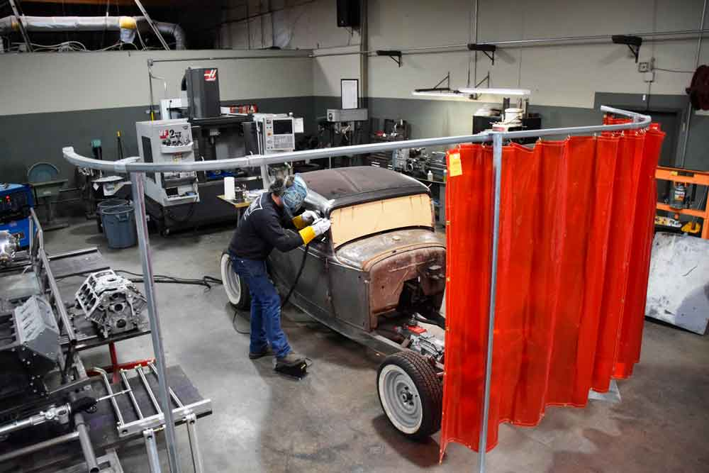 Red Welding Curtain
