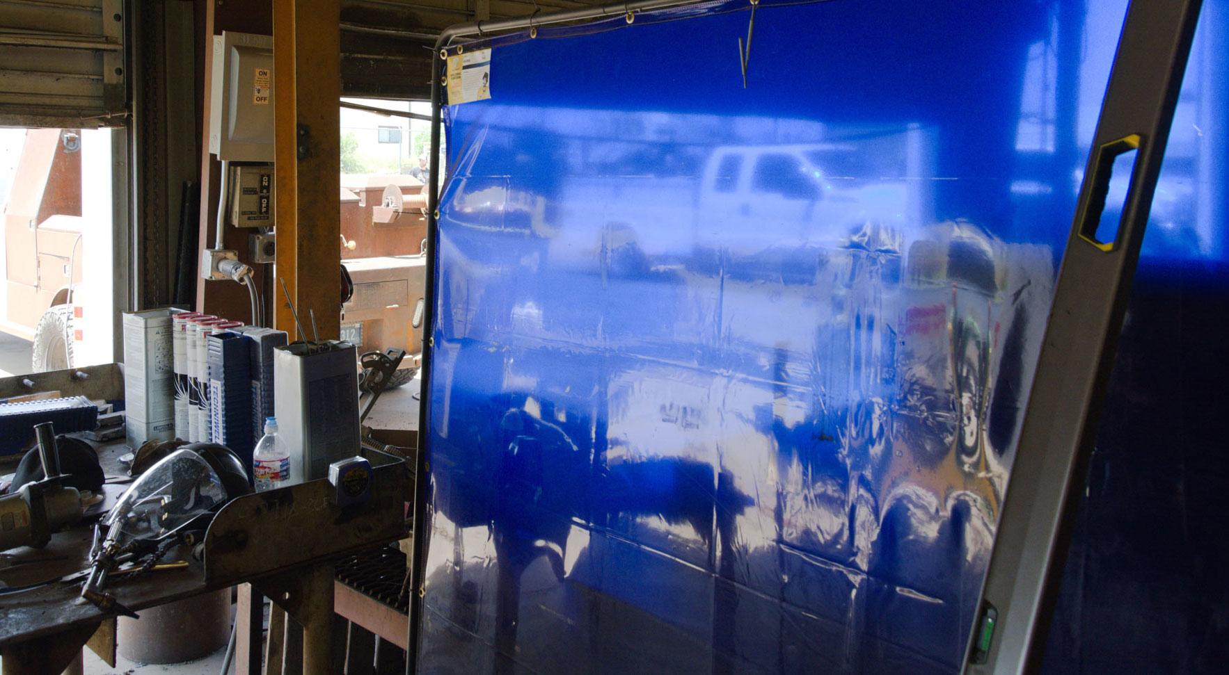 Tillman® Blue ArcShield Welding Curtain