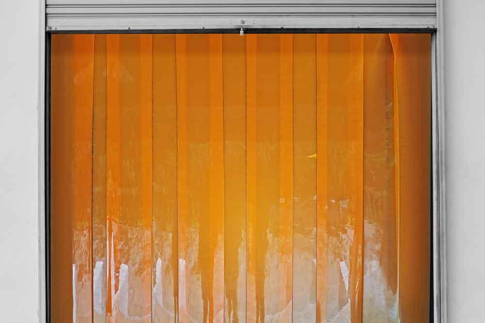 Transparent Orange Vinyl Curtains
